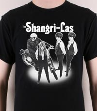 Lead singer for The Specials, Terry Hall, wore this The Shangri-Las T-Shirt, a girl group from the 60's best known for their hit single